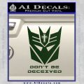 Transformers Christian Decal Sticker Decepticon Dark Green Vinyl 120x120