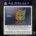Transformers Christian Decal Sticker Decepticon Glitter Sparkle 120x120