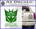 Transformers Christian Decal Sticker Decepticon Green Vinyl Logo 120x97