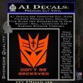 Transformers Christian Decal Sticker Decepticon Orange Emblem 120x120