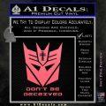 Transformers Christian Decal Sticker Decepticon Pink Emblem 120x120