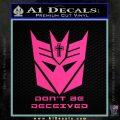 Transformers Christian Decal Sticker Decepticon Pink Hot Vinyl 120x120
