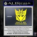 Transformers Christian Decal Sticker Decepticon Yellow Laptop 120x120