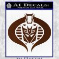 Transformers Cobra Decal Sticker Hybrid BROWN Vinyl 120x120