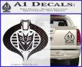 Transformers Cobra Decal Sticker Hybrid Carbon FIber Black Vinyl 120x97
