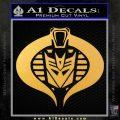 Transformers Cobra Decal Sticker Hybrid Gold Vinyl 120x120