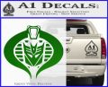 Transformers Cobra Decal Sticker Hybrid Green Vinyl Logo 120x97
