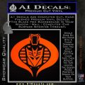 Transformers Cobra Decal Sticker Hybrid Orange Emblem 120x120