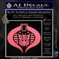 Transformers Cobra Decal Sticker Hybrid Pink Emblem 120x120