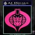 Transformers Cobra Decal Sticker Hybrid Pink Hot Vinyl 120x120