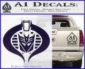 Transformers Cobra Decal Sticker Hybrid PurpleEmblem Logo 120x97