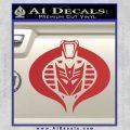 Transformers Cobra Decal Sticker Hybrid Red 120x120
