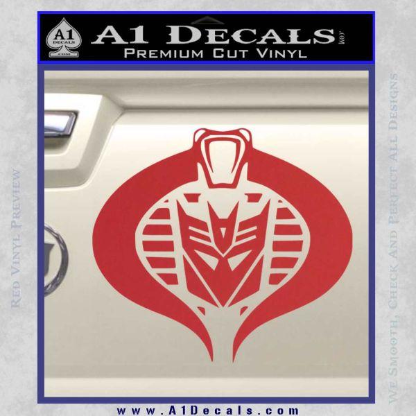 Transformers Cobra Decal Sticker Hybrid Red