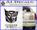 Transformers Decal Sticker Choose Wisely Carbon FIber Black Vinyl 120x97