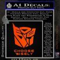 Transformers Decal Sticker Choose Wisely Orange Emblem 120x120