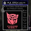 Transformers Decal Sticker Choose Wisely Pink Emblem 120x120