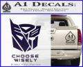 Transformers Decal Sticker Choose Wisely PurpleEmblem Logo 120x97