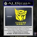 Transformers Decal Sticker Choose Wisely Yellow Laptop 120x120