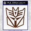 Transformers Decepticon Cylon Battlestar Galactica Mashup D1 Decal Sticker BROWN Vinyl 120x120