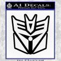 Transformers Decepticon Cylon Battlestar Galactica Mashup D1 Decal Sticker Black Vinyl 120x120