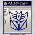 Transformers Decepticon Cylon Battlestar Galactica Mashup D1 Decal Sticker Blue Vinyl 120x120
