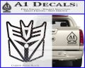 Transformers Decepticon Cylon Battlestar Galactica Mashup D1 Decal Sticker Carbon FIber Black Vinyl 120x97