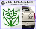 Transformers Decepticon Cylon Battlestar Galactica Mashup D1 Decal Sticker Green Vinyl Logo 120x97