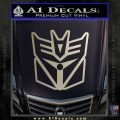 Transformers Decepticon Cylon Battlestar Galactica Mashup D1 Decal Sticker Metallic Silver Emblem 120x120