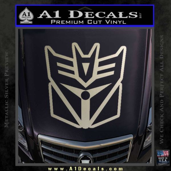 Transformers Decepticon Cylon Battlestar Galactica Mashup D1 Decal Sticker Metallic Silver Emblem