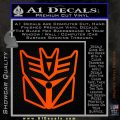 Transformers Decepticon Cylon Battlestar Galactica Mashup D1 Decal Sticker Orange Emblem 120x120