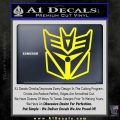 Transformers Decepticon Cylon Battlestar Galactica Mashup D1 Decal Sticker Yellow Laptop 120x120