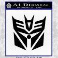 Transformers Decepticon Cylon Battlestar Galactica Mashup D2 Decal Sticker Black Vinyl 120x120