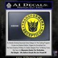 Transformers Decepticon Decal Sticker Full Emblem Yellow Laptop 120x120