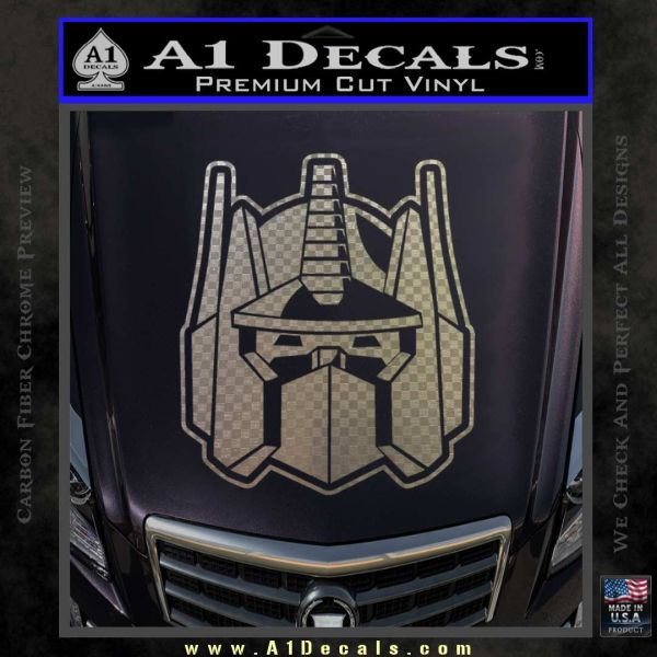 Transformers Decepticon Decal Sticker New Carbon FIber Chrome Vinyl