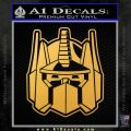 Transformers Decepticon Decal Sticker New Gold Vinyl 120x120