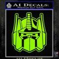Transformers Decepticon Decal Sticker New Lime Green Vinyl 120x120