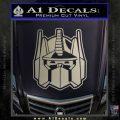 Transformers Decepticon Decal Sticker New Metallic Silver Emblem 120x120