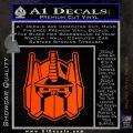 Transformers Decepticon Decal Sticker New Orange Emblem 120x120