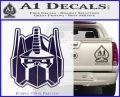 Transformers Decepticon Decal Sticker New PurpleEmblem Logo 120x97