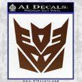 Transformers Decepticon Logo R1 Decal Sticker BROWN Vinyl 120x120