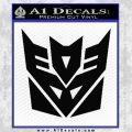 Transformers Decepticon Logo R1 Decal Sticker Black Vinyl 120x120