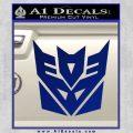 Transformers Decepticon Logo R1 Decal Sticker Blue Vinyl 120x120