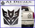 Transformers Decepticon Logo R1 Decal Sticker Carbon FIber Black Vinyl 120x97