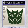 Transformers Decepticon Logo R1 Decal Sticker Dark Green Vinyl 120x120