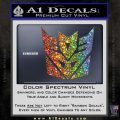 Transformers Decepticon Logo R1 Decal Sticker Glitter Sparkle 120x120