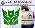 Transformers Decepticon Logo R1 Decal Sticker Green Vinyl Logo 120x97