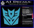 Transformers Decepticon Logo R1 Decal Sticker Light Blue Vinyl 120x97