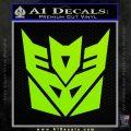 Transformers Decepticon Logo R1 Decal Sticker Lime Green Vinyl 120x120