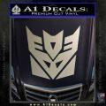 Transformers Decepticon Logo R1 Decal Sticker Metallic Silver Emblem 120x120