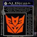 Transformers Decepticon Logo R1 Decal Sticker Orange Emblem 120x120